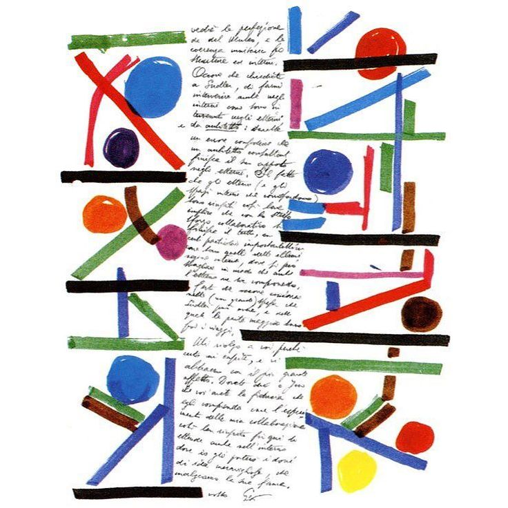 Drawn letter by Gio Ponti by apreski