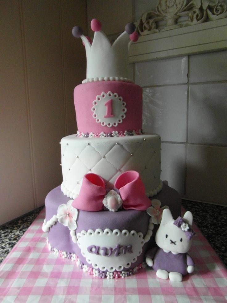 paars/wit/roze taart/ purple/white/pink cake