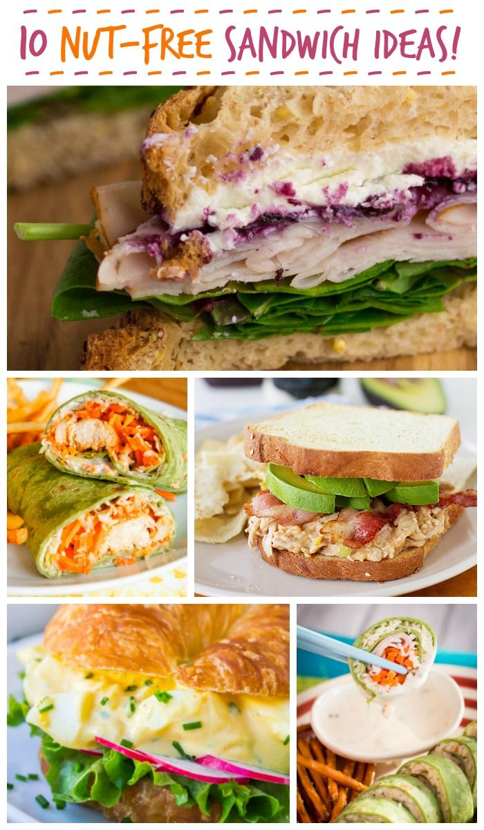 10 Nut Free Sandwich Ideas for Lunch | SANDWICH AND BURGER LOVE ...