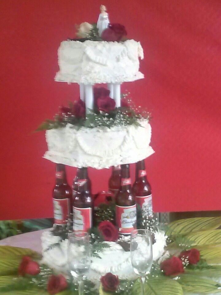My Friend Sally Was Ask To Do A Redneck Wedding Cake. I Think She Rocked