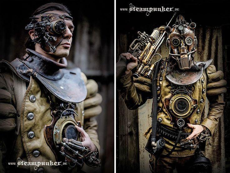Artista cria moda Steampunk a partir de peças antigas de mercado de pulgas stylo urbano-2