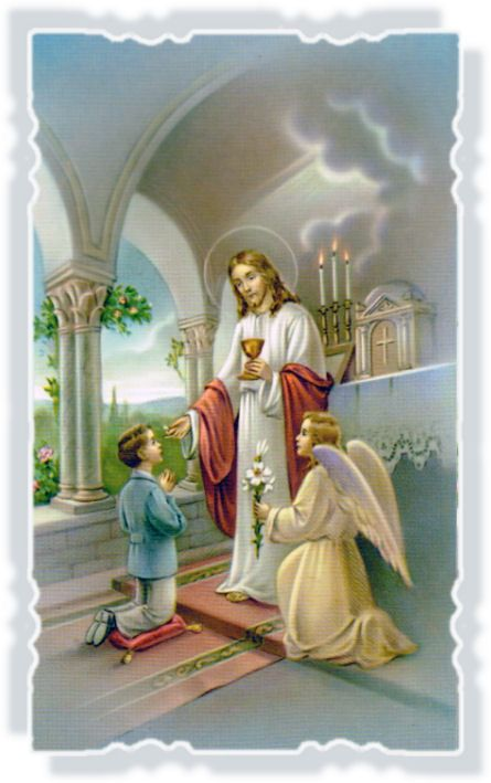 Child following in the ways of God (communion)