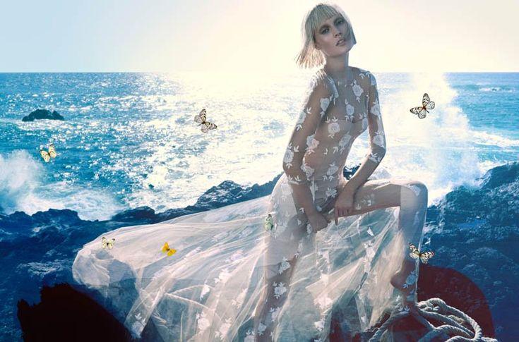 blumarine toni garrn ad photos2 More Photos of Toni Garrn in Blumarines Spring 2014 Ads