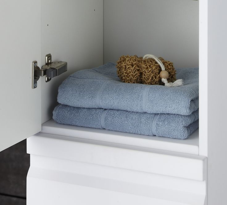 All cabinet doors are fitted with solid adjustable metal hinges and soft closing mechanism - perfect for everyday use.