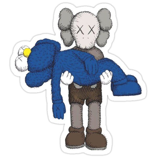 Untitled Sticker By Angelinaril68 In 2021 Kaws Wallpaper Kaws Iphone Wallpaper Hypebeast Wallpaper Kaws supreme wallpaper iphone