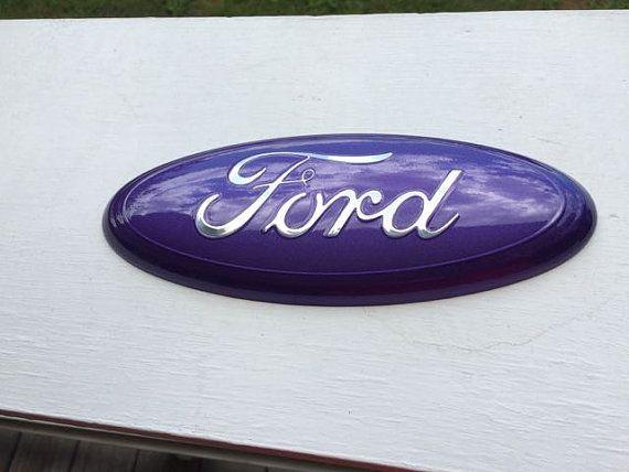 Ford Truck f 150-350 PURPLE CUSTOM Emblem 9 by CustomizedEmblems