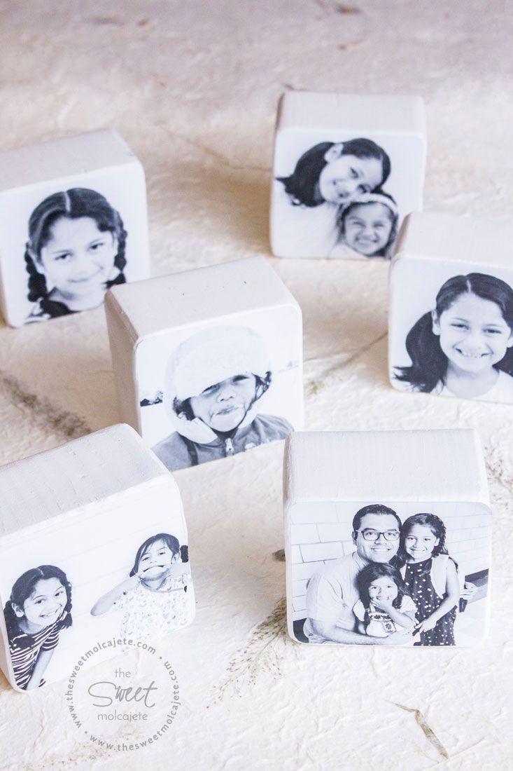 Aprende a hacer estos fáciles y bonitos bloques con fotos para regalo de Día del Padre. Son perfectos para que papá los ponga orgulloso en su escritorio y que recuerde siempre cuánto lo aman #DIY #diadelpadre #regalo Father's Day Diy, B & B, Fathers Day, Container, Sweet, Diy Ideas, Permanent Marker, White Acrylic Paint, Painting Steps