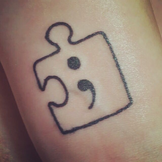 Tattoo Ideas About Depression: My First Tattoo From My Board, It Represents Both Autism