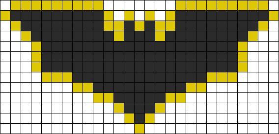 Batman Dark Knight Perler Bead Pattern | Bead Sprites | Characters Fuse Bead Patterns