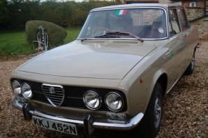 Alfa Romeo 2000 Berlina Rust free Original RHD 1973 Tax-exempt this year Photo