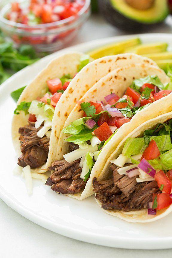 Slow Cooker Barbacoa Beef Tacos (Chipotle Copycat) @FoodBlogs