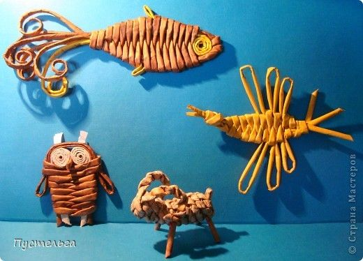 weave with paper tubes - tutorial for these animals!
