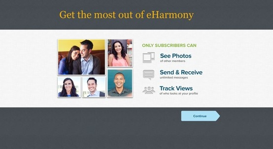 eharmony website design