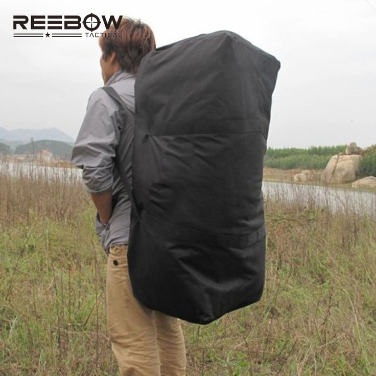 REEBOW TACTICAL Outdoor Travel Duffle Bag Men Big Capacity Picnic Camping Backpack 1000D Oxford Trekking Sports Luggage Bag