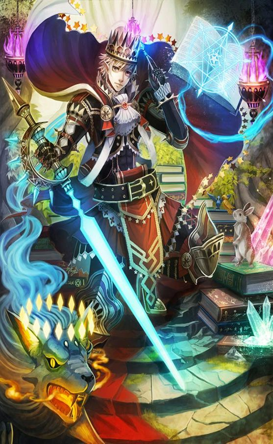 Force of Will TCG Art | force of will booster the castle of heavens and the two towers