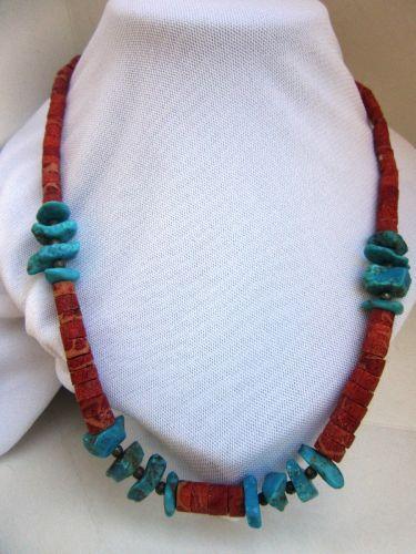colier coral turcoaz amerindian