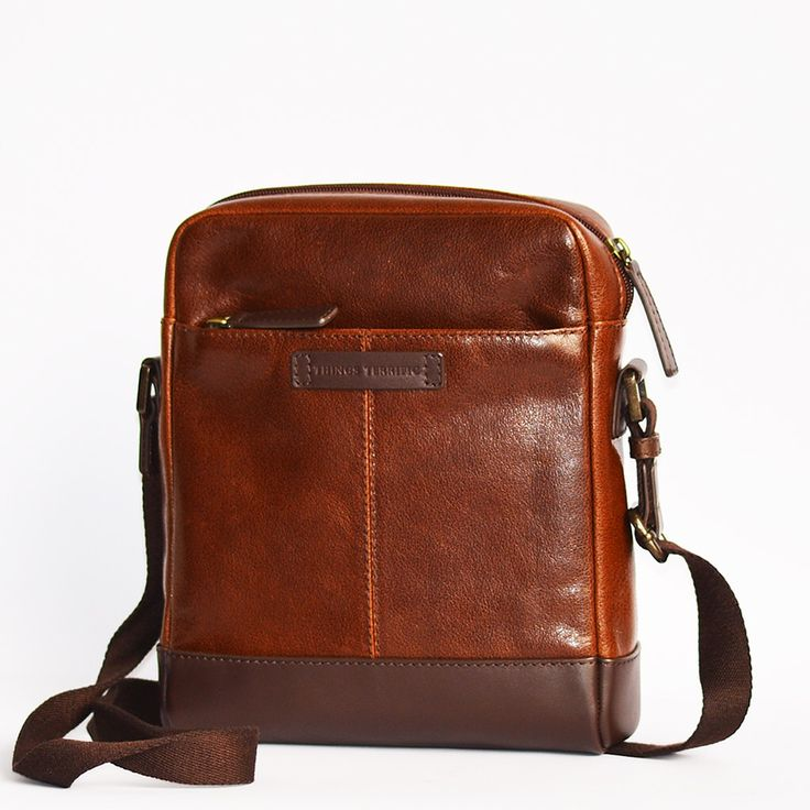 Noah Travel Sling in a rich tan leather