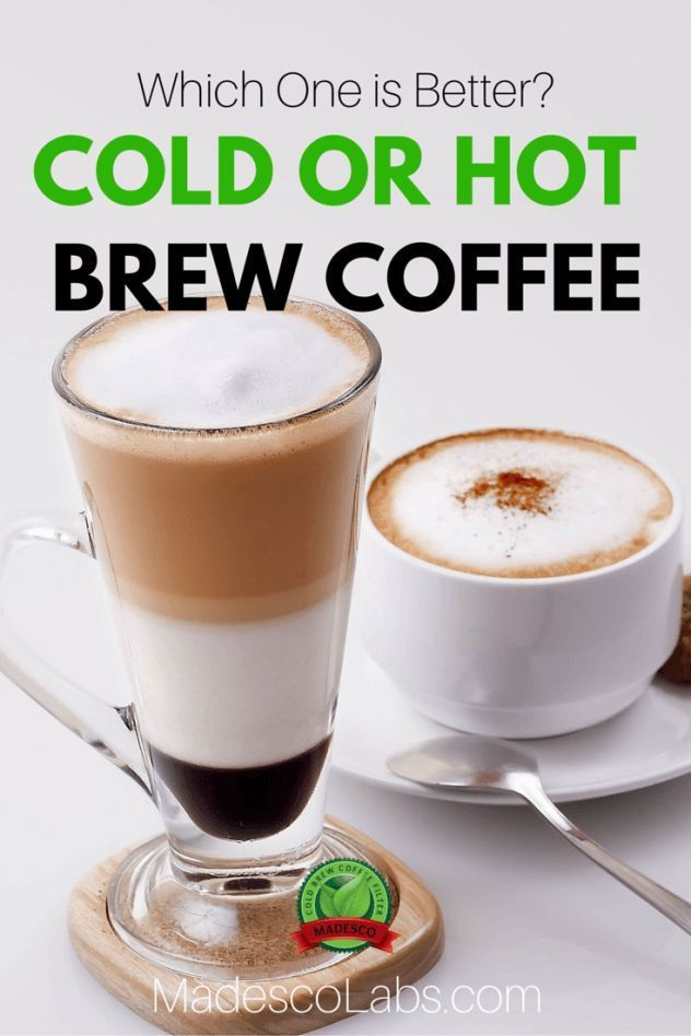Cold vs hot brew coffee - Find out which one is better! Go to http://www.madescolabs.com/hot-vs-cold-brew-coffee/