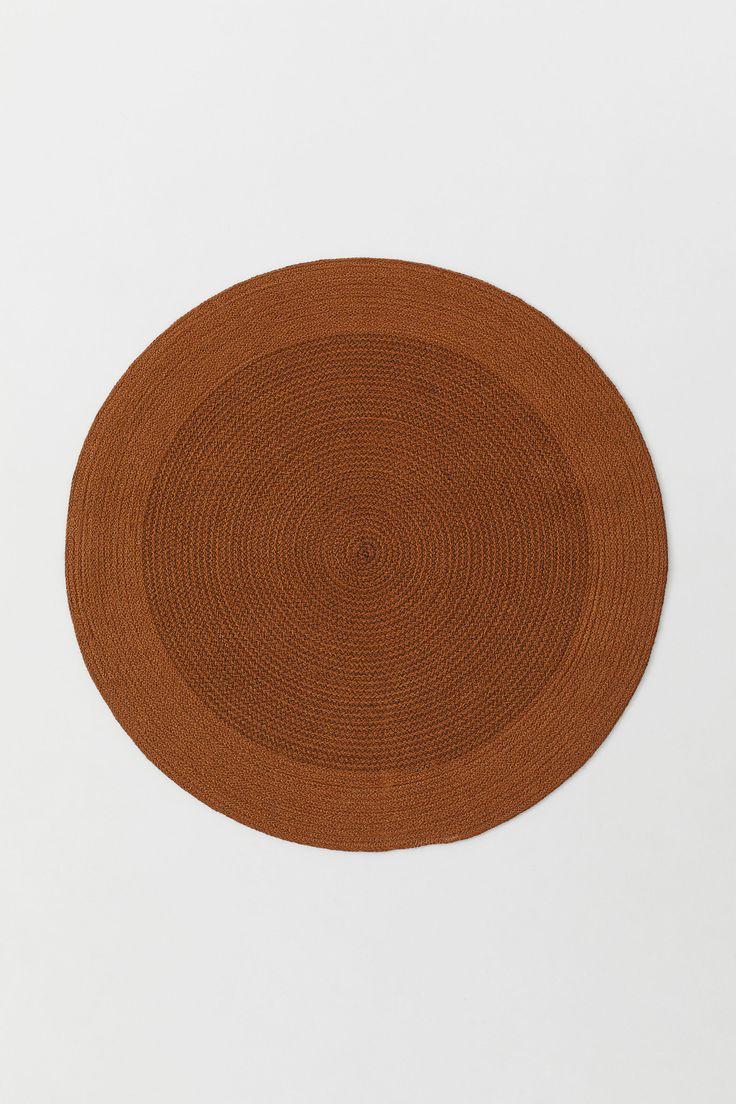 Round Jute Floor Mat in 2020 Jute, Jute rug, Jute mats