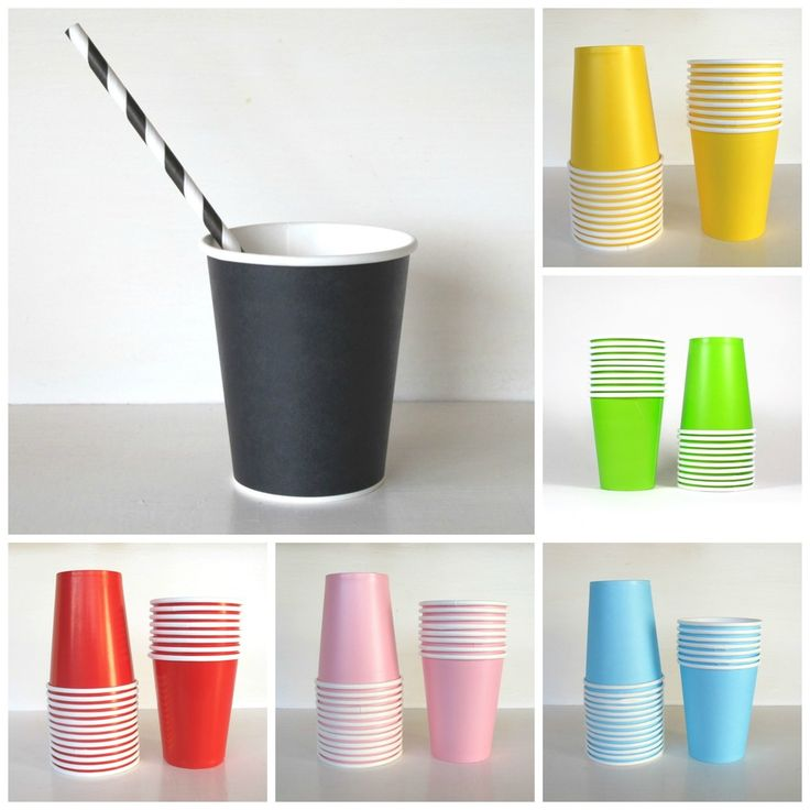 Coloured Paper Cups