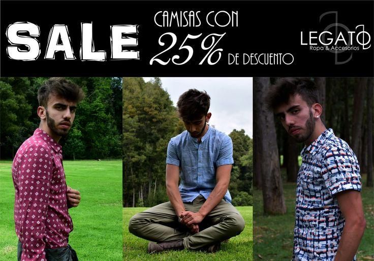 Todas nuestras camisas con el 25% de descuento!!!! Aprovecha esta promo válida hasta el 20 de marzo!!!  Pago contra entrega y envíos totalmente gratuitos!!  #sale  #menswear #shirt #camisa #hechoencolombia #promociones