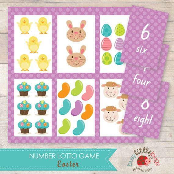Easter Number Lotto Game AUTOMATIC DOWNLOAD by BUSYLITTLEBUGSshop, $6.95