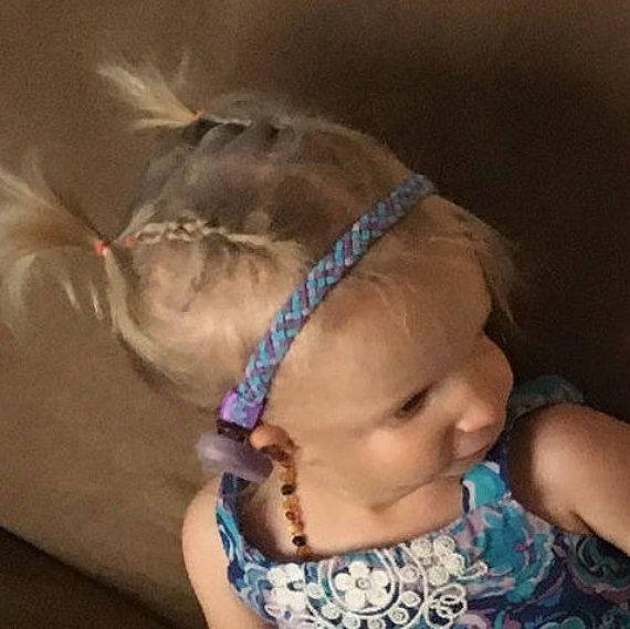suede braid headbands for girls who wear a baha hearing aid