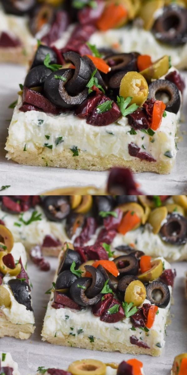 This Olive Pizza Appetizer is easy to make and the…