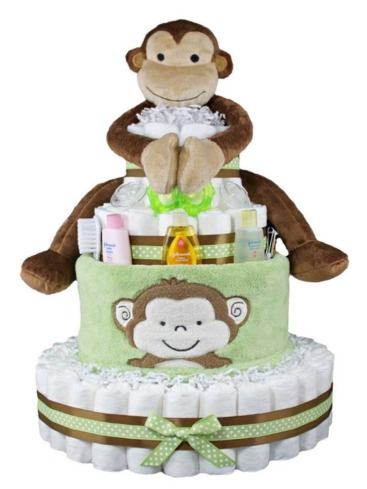 Monkey diaper cakes for baby showers baby shower ideas pinterest - Baby shower monkey pictures ...