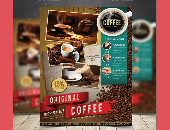 121 best Flyer Templates images on Pinterest Flyers and Grunge - coffee shop brochure template