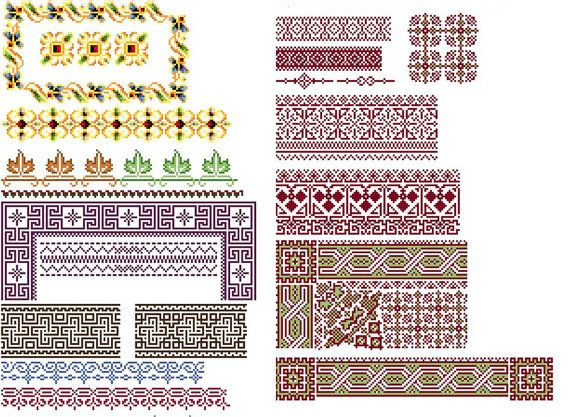 Amazing borders 1  Cross stitch pattern. Instant by rolanddesigns, $4.00
