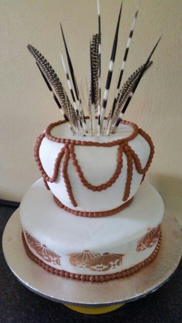 African tradition wedding cake