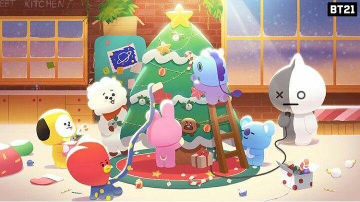 Bt21 Merry Christmas Ilustrasi Karakter Ilustrasi Fandom