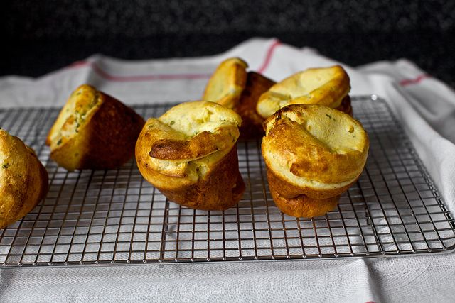 buttermilk popovers with corn and chivesTasty Recipe, Chive Popovers, Thanksgiving Side, Fall Food, Yum, Breads, Corn Buttermilk, Smitten Kitchens, Popovers Smittenkitchencom