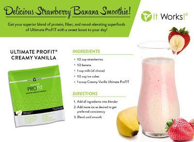Protein Shake Recipes with It Works Ultimate ProFIT www.universalwrapgirls.com
