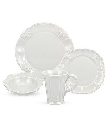 fleur de lis dish set   Dinnerware Grey Fleur De Lys Collection - Casual Dinnerware  sc 1 st  Pinterest & 16 best Fluer de Lis Dish Sets images on Pinterest   Dish sets ...