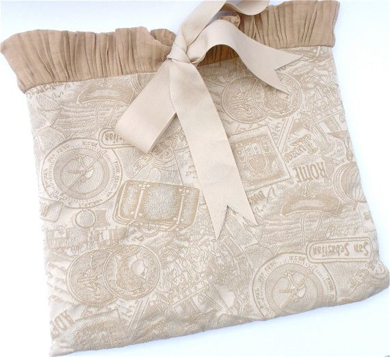 a special Valentine present for her or for yourself -- very sexy Vintage Jacquard Lingerie Bag -- great for everyday or travel available on #VillaCollezione