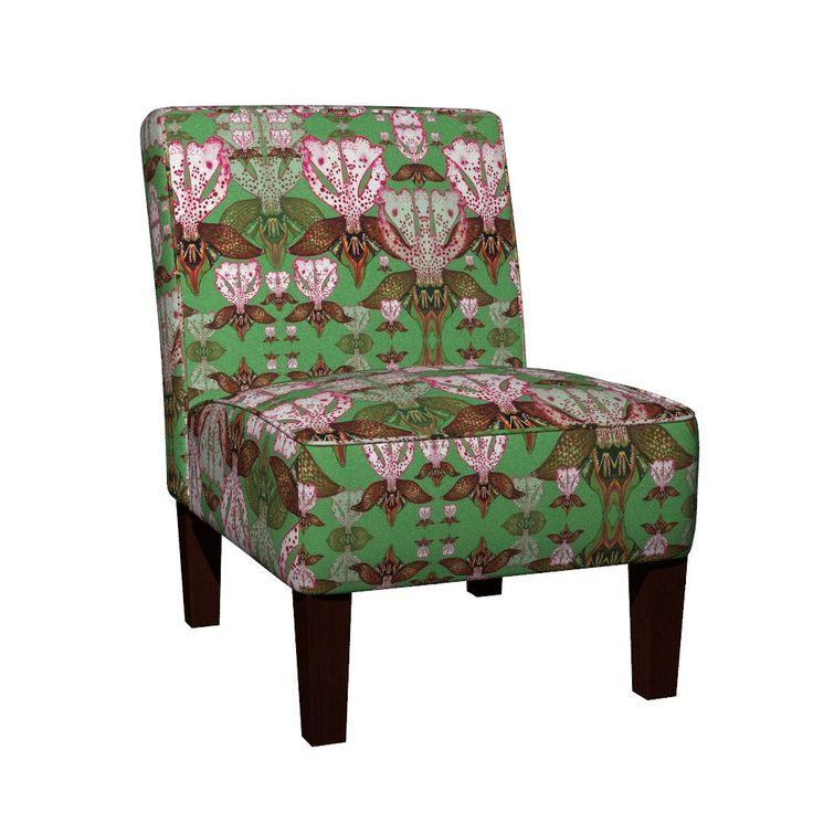 Maran Slipper Chair featuring O.Purpurea by joancaronil   Roostery Home Decor