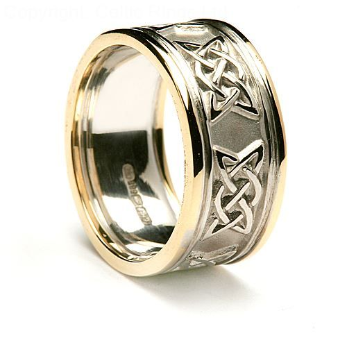 This Is A Lovely Example Of Our Wider Celtic Wedding Bands Which Allows The Lovers Knot