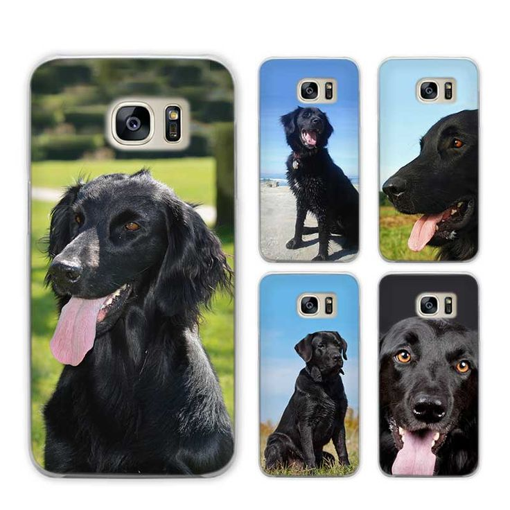 Black Dog Rules Flat Coated Retriever Lovers Protective Phone Cover for Samsung Galaxy S3 S4 S5 Mini S6 S7 S8 Edge Plus  Price: 7.99 & FREE Shipping   #dogloversfeed #curatedpaws