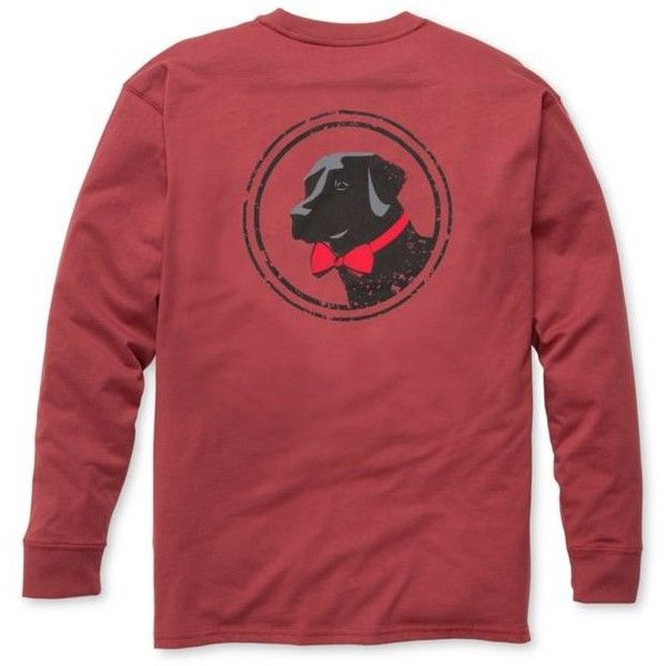 Southern Proper Rust Red Long Sleeve Original Graphic Tee - Male ($36) ❤ liked on Polyvore featuring men's fashion, men's clothing, men's shirts, men's t-shirts and rust red