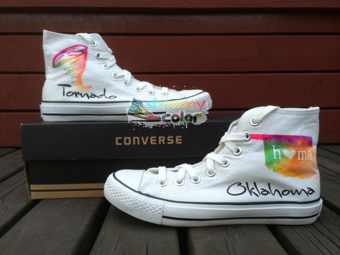 129.00$  Watch here - http://aliko1.shopchina.info/1/go.php?t=1902378893 - Converse Chuck Taylor White Men Women's Shoes Tornado in Oklahoma Original Design Hand Painted Shoes Woman Man Sneakers  #buyonlinewebsite