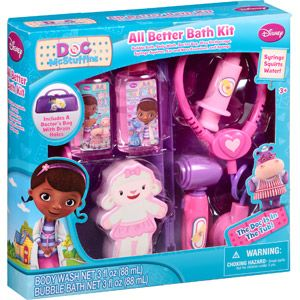 Great to Take apart and put in stockings.....Disney Doc McStuffins All Better Bath Kit, 7 pc: $9.88