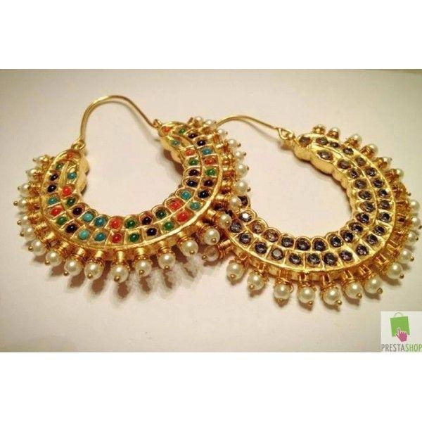 Ram leela chand bali earrings http://a-wedding-planner.blogspot.com/2014/06/kundan-polki-chand-bali-jhumkas-kundan.html