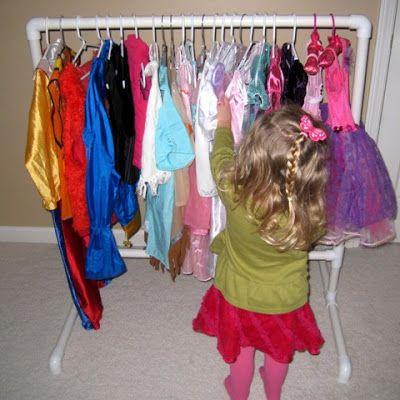 DIY pvc clothing rack, preschool size