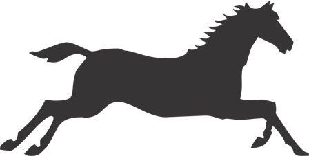 Силуэт лошади R