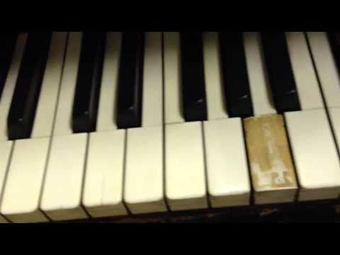 fix chipped and peeling piano keys