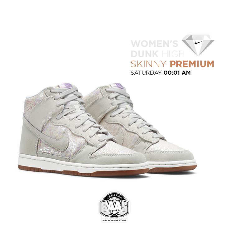 #nike #dunkhigh #skinnypremium #sneakerbaas #baasbovenbaas  Nike WMNS Dunk High Skinny Premium - Available saturday, priced at € 104,95  For more info about your order please send an e-mail to webshop #sneakerbaas.com!