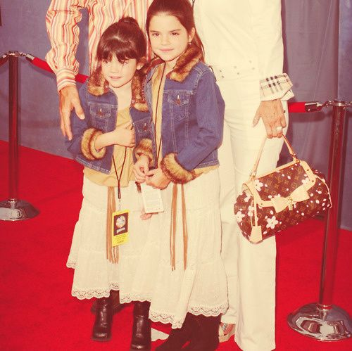 Little Kendall and Kylie Jenner matching on the red carpet.