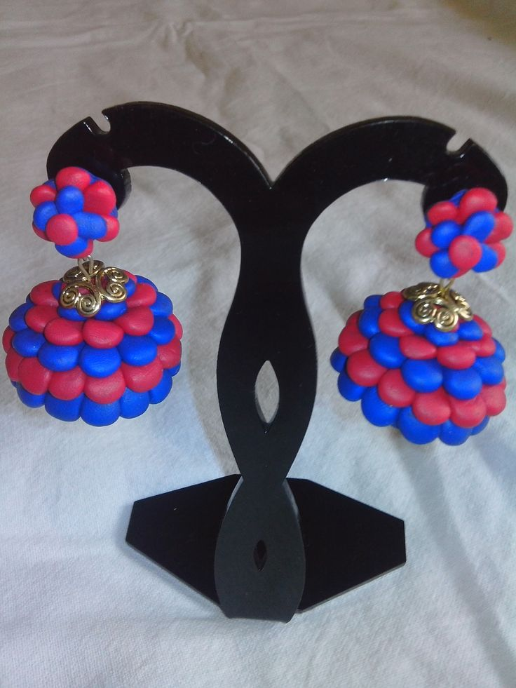 Buy #Terracotta #jhumkas handmade #jewellery from online #handicrafts store #craftshopsindia